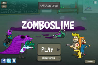 Zomboslime main menu screen by Helgiii