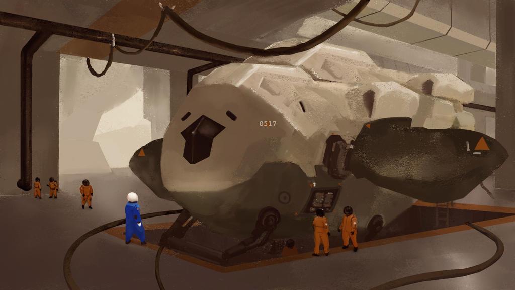 SpaceShip Sketch by BrianKellum
