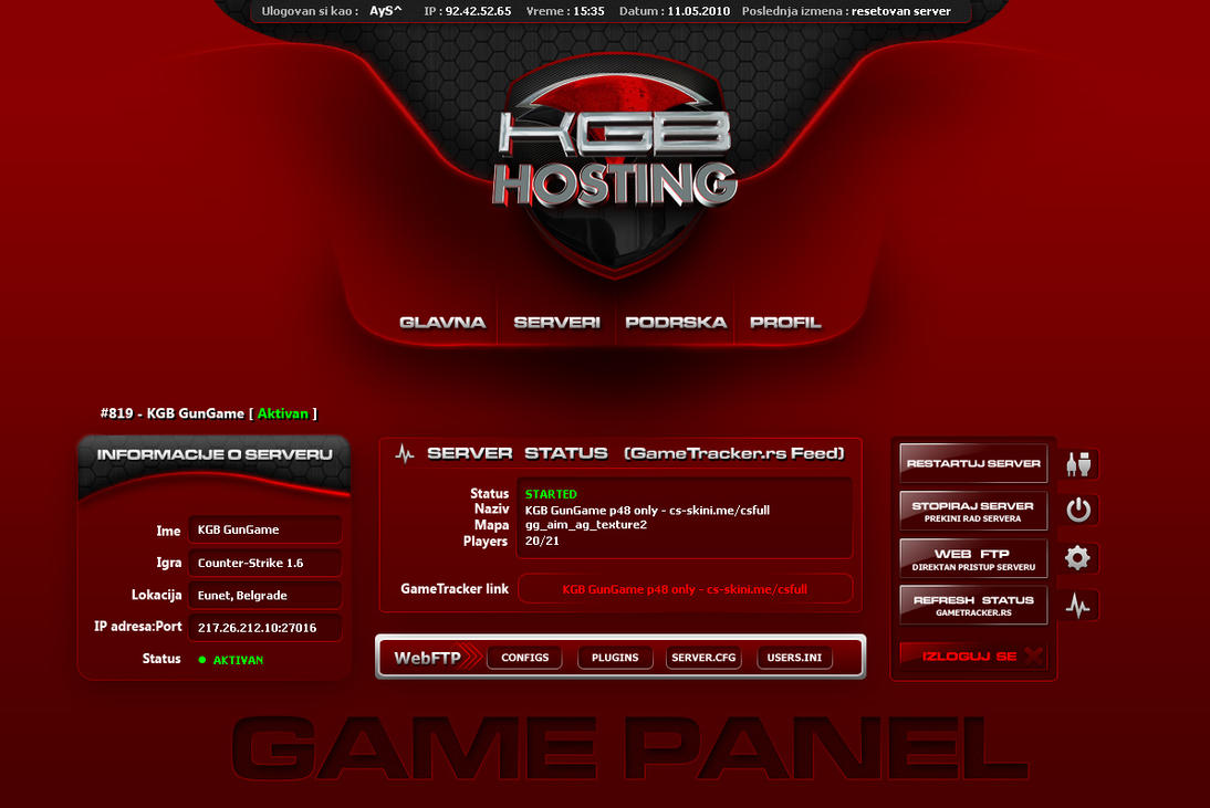 kgb hosting game panel wip by obsid1an on deviantart