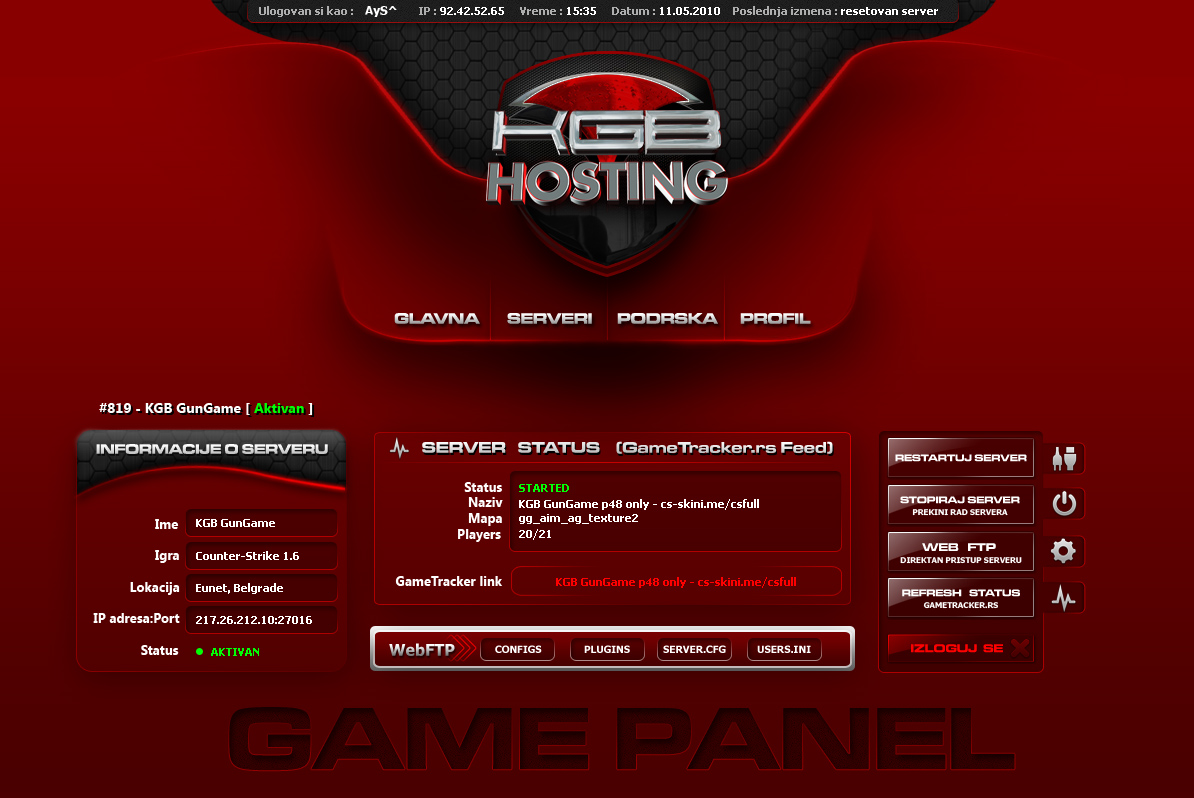 kgb hosting website
