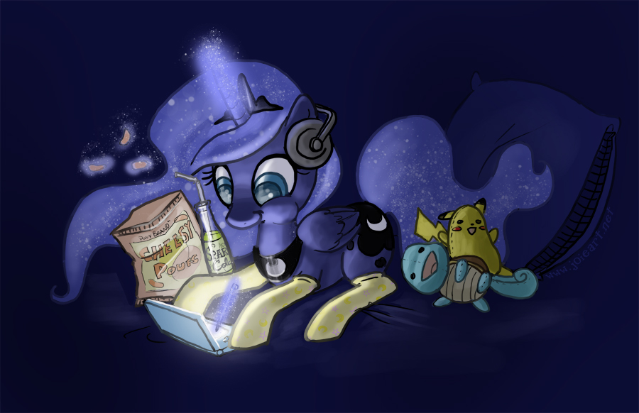 Gamer Luna by JoieArt