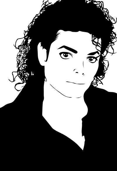 Michael jackson vector black and white only by for Black and white only