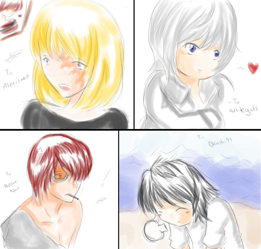 Mello, Near, Matt, L by KatsuyaCrimson on DeviantArt