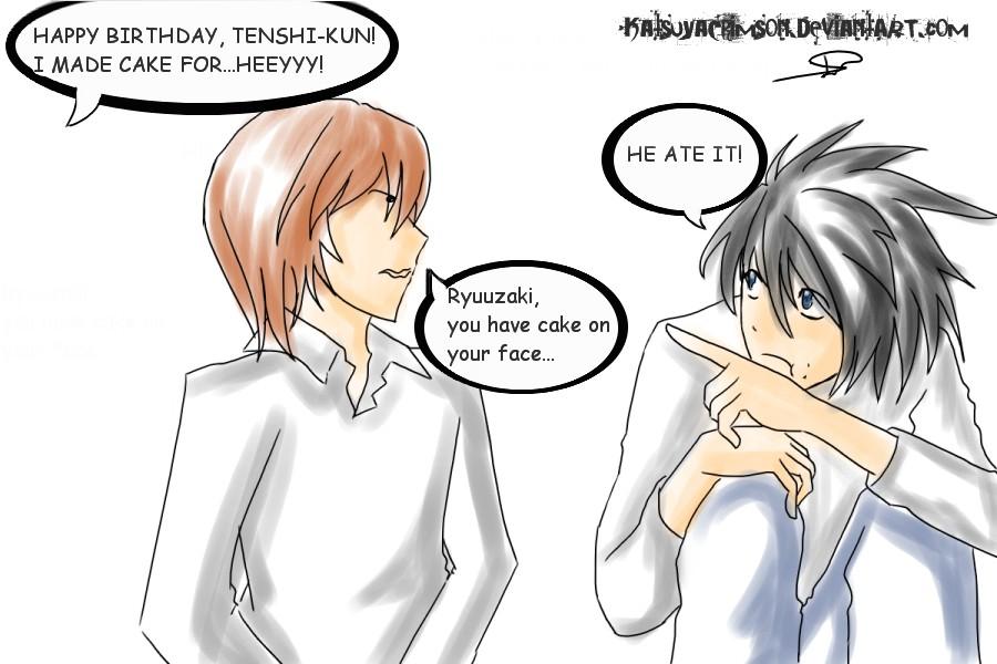 L ate TENSHI'S CAKE Dx by KatsuyaCrimson