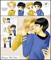 Kirk/Spock - Thank you, Mr. Spock by KatsuyaCrimson