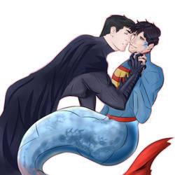 Mermaid Superman by KatsuyaCrimson