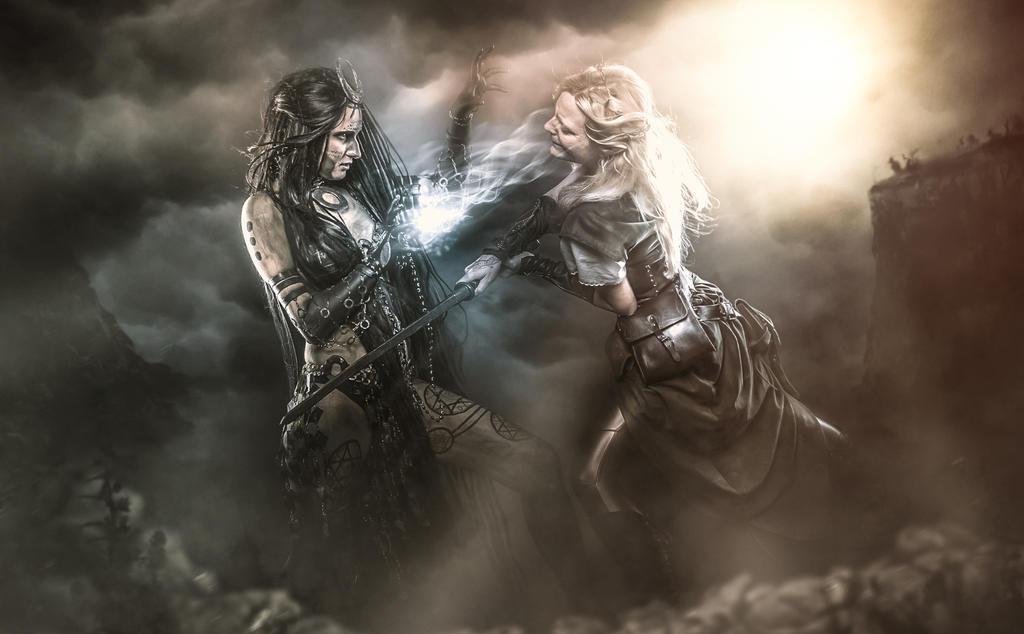 Enchantress vs. Elve Print by Miss-REdreaming