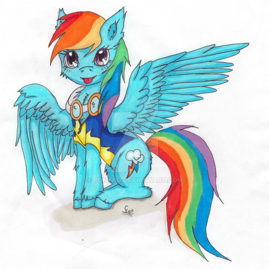 Fluffly Academy Rainbow Dash  Template Sketch by PonyHD on