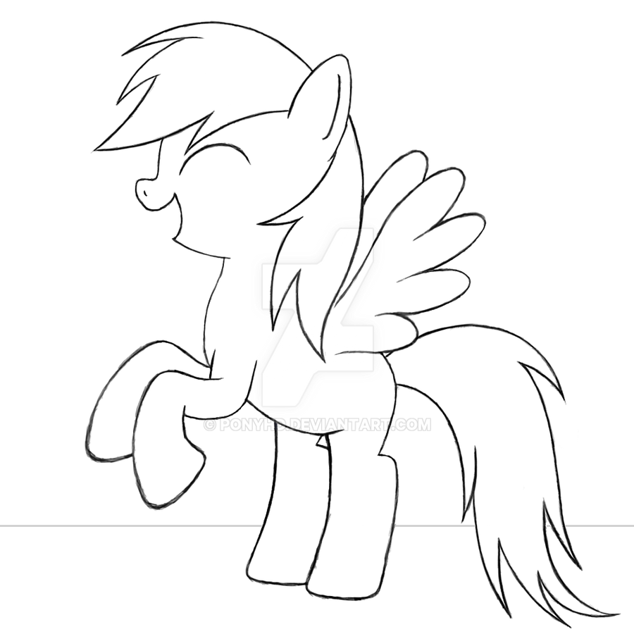 Happy Rainbow Dash  Skizze by PonyHD on DeviantArt