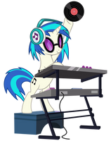 Vinyl Scratch with soundmixer by PonyHD