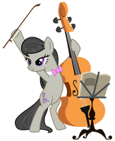 Octavia with music stand by PonyHD