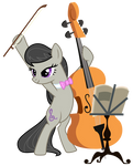 Octavia with music stand