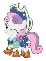 Showvector - Cowgirl Sweetiebelle by PonyHD