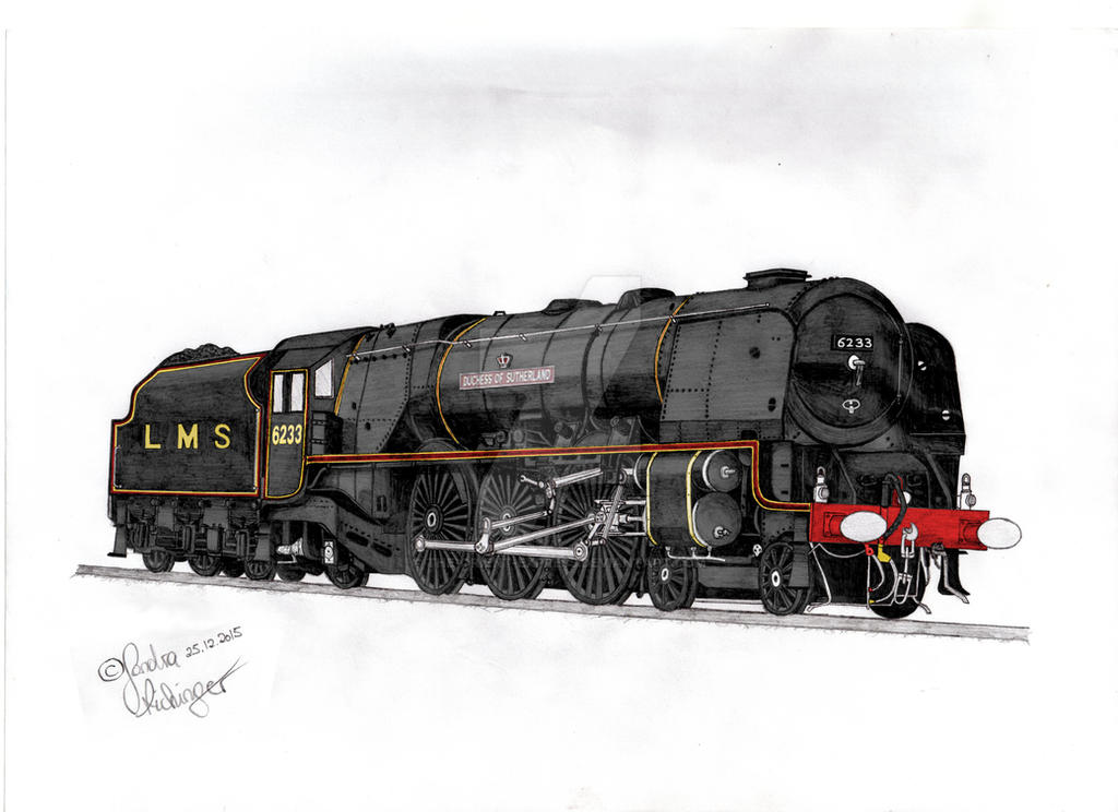LMS 6233 Duchess of Sutherland [colour] by The-Orient-Express