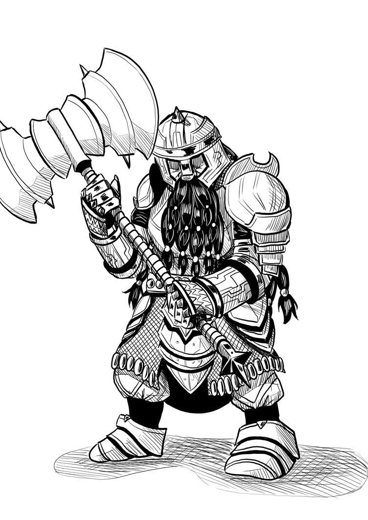 Dwarf warrior by sandertulk