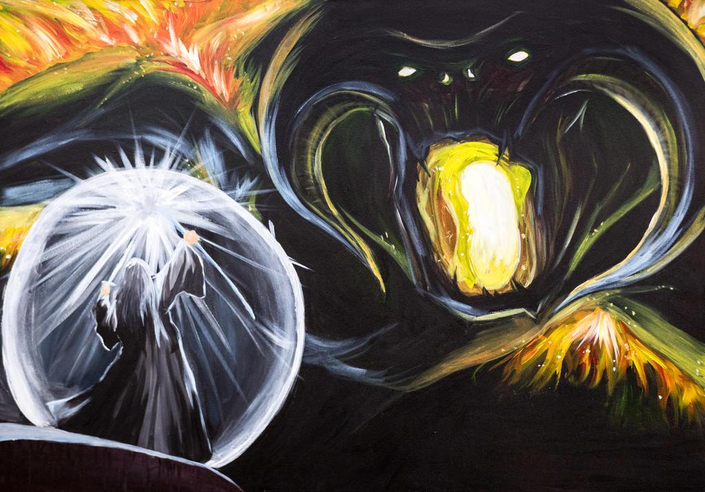 Gandalf vs Balrog by sandertulk