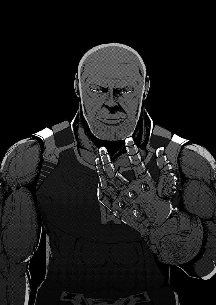 The mad titan Thanos by sandertulk