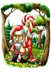 Mushroom santa by sandertulk