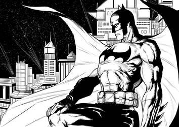Inking study- Batman by sandertulk