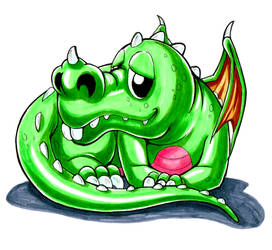 Cartoon dragon by sandertulk