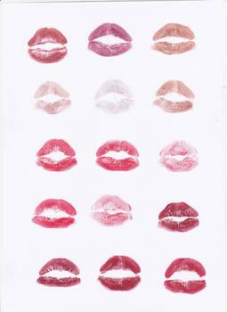 Lipstick Kiss Stock