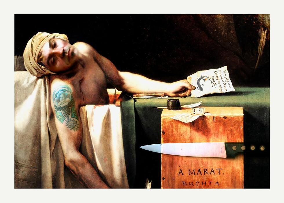 La muerte de Marat by HerrBuchta