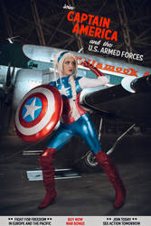 Captain America - Marvel - Cosplay by BabyGirlFallenAngel