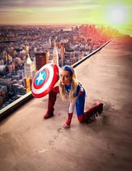 Marvel's Captain America cosplay by BabyGirlFallenAngel