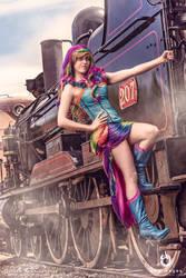 Rainbow Dash Cosplay Steampunk Burlesque by BabyGirlFallenAngel