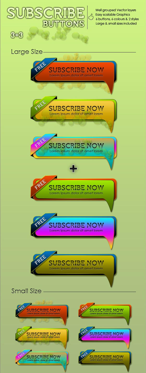 3+3 Subscribe Buttons by kh2838