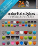 24 buttons and Text Ps Styles