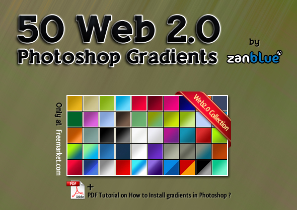 50 Web2.0 photoshop gradients by kh2838