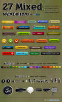 27 Mixed Small Web Buttons by kh2838