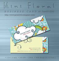 Mini Floral Business card by kh2838