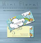 Mini Floral Business card