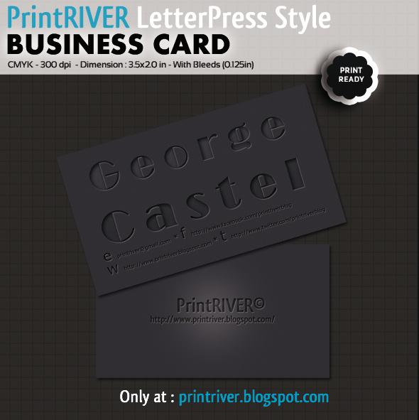 Letterpress style B. Card