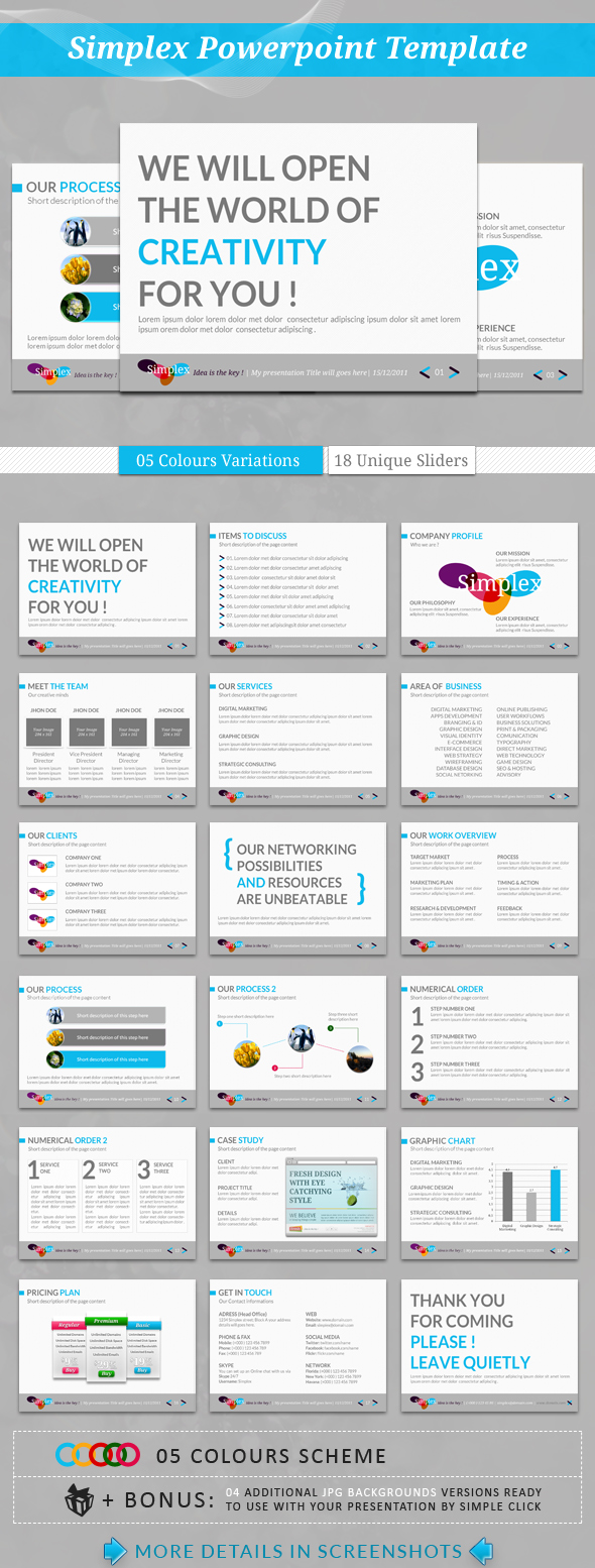 Simplex PowerPoint Template by kh2838