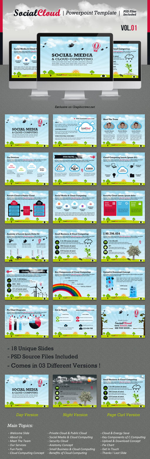 SocialCloud Powerpoint Template V.01 by kh2838