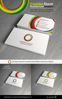 Creative Storm Business Card Template by kh2838