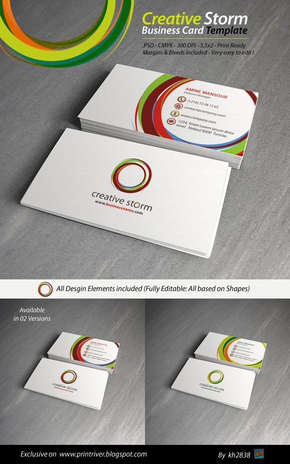 Creative Storm Business Card Template