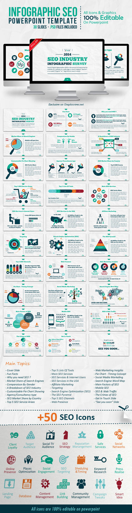 Full templates on powerpointpros deviantart kh2838 4 1 infographic seo powerpoint template by kh2838 alramifo Image collections