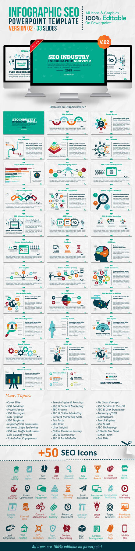 Infographic SEO Powerpoint Template - Version 02 by kh2838