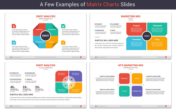 Powerpoint Matrix Charts by kh2838