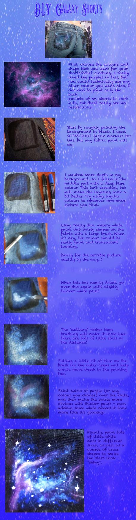 Galaxy Shorts Tutorial by elleira5jewellery