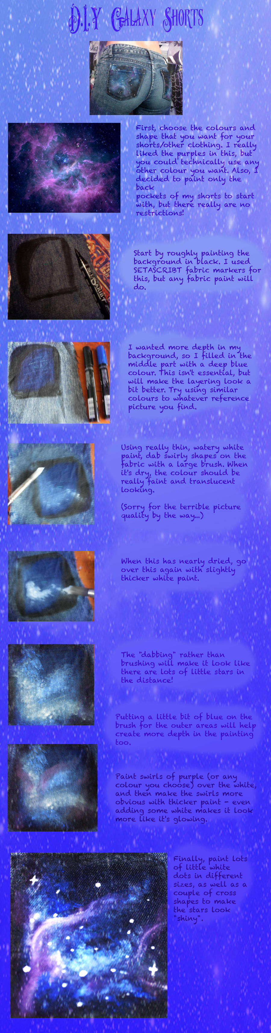 Galaxy Shorts Tutorial by elleira5jewellery