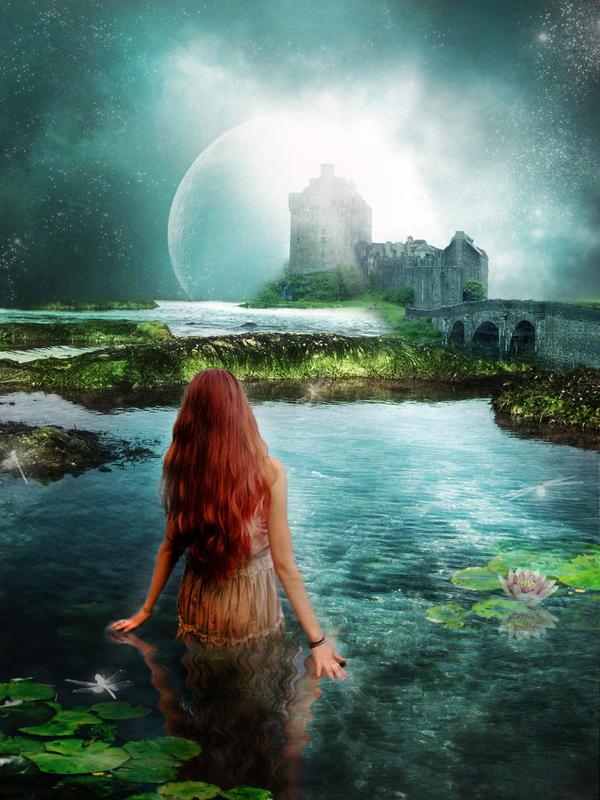 A Swim Under Moonlight by Roguellgreen