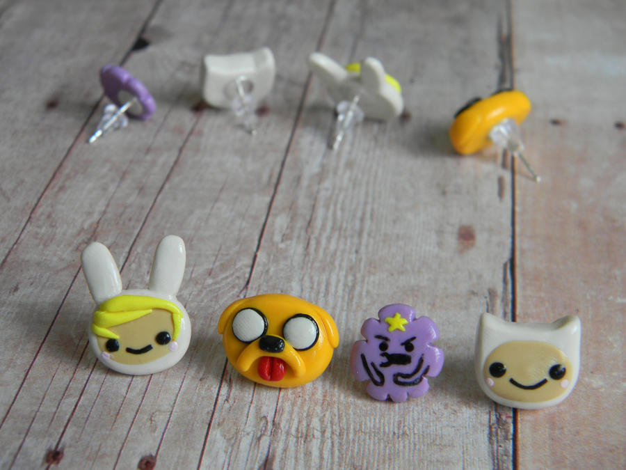 Adventure Time And Friends Studs Polymer Clay By