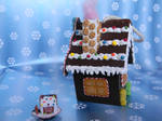 Gingerbread House Ornament-Side View 2