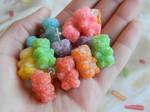 Sour Gummy Bear Studs-Polymer Clay-Etsy Shop
