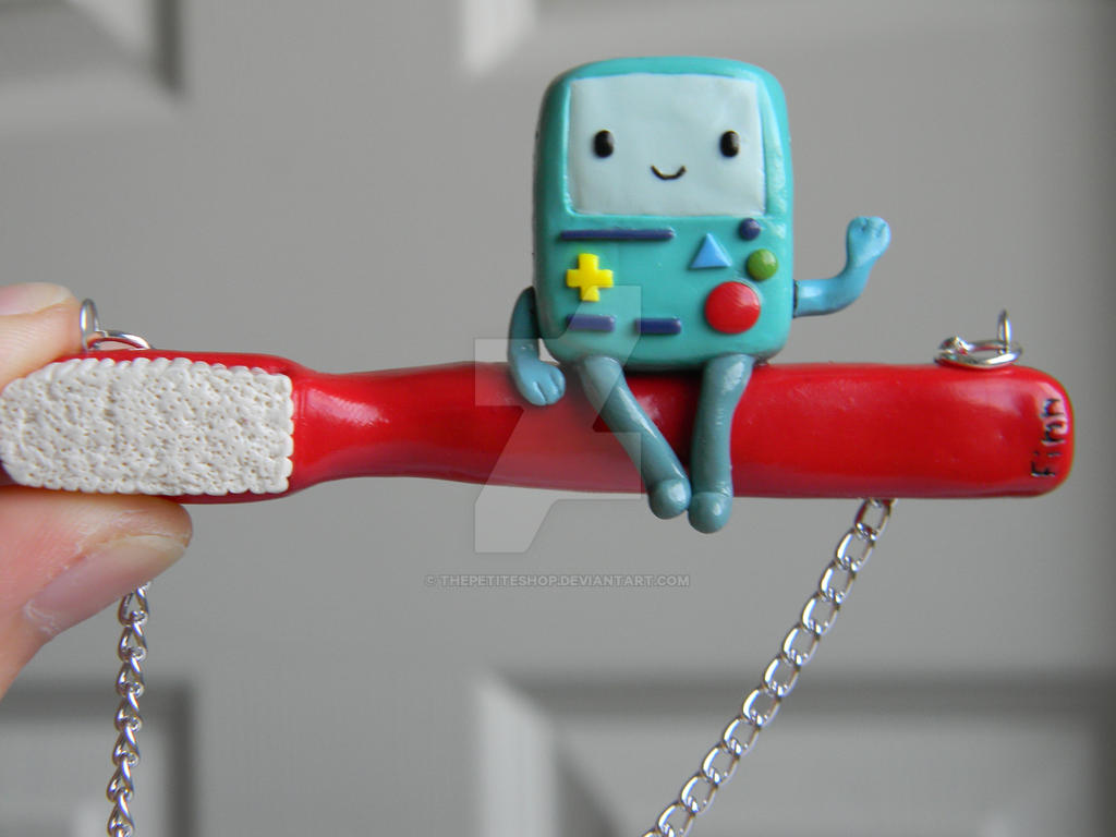 Beemo (BMO) Necklace-Polymer Clay-AT by ThePetiteShop